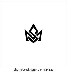 Creative modern elegant trendy unique artistic black and white color MS SM M S