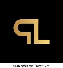 Creative Modern Elegant Trendy Unique Artistic Black And Gold Color QL LQ Initial Based Letter Icon Logo Design