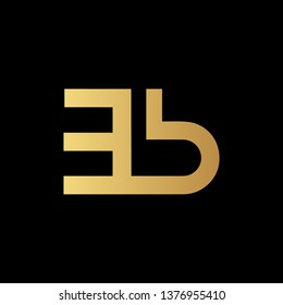 Creative Modern Elegant Trendy Unique Artistic Black And Gold Color EB BE Initial Based Letter Icon Logo Design