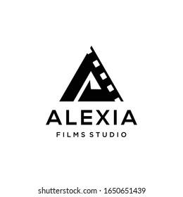 Creative modern film production logo icon vector template