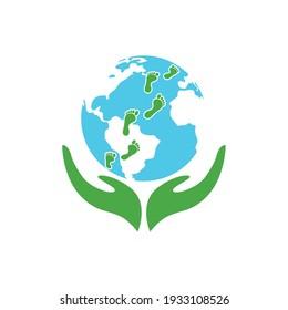 Creative modern globe world logo template vector illustration