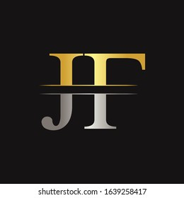 Creative Modern JF Logo Design Vector Template. Initial Linked Letter JF Logo Design