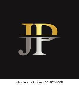 Creative Modern JP Logo Design Vector Template. Initial Linked Letter JP Logo Design