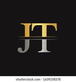 Creative Modern JT Logo Design Vector Template. Initial Linked Letter JT Logo Design