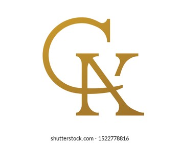 Creative Modern Letter C and letter K and letter A Vector Combine Icon Logo Illustration Monogram
