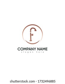 Creative modern letter F with Love sign logo template, Vector logo for business and company identity