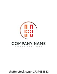 Creative modern letter type H logo template, Vector logo for business and company identity