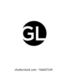 Creative modern minimal circular shaped fashion brand black and white color GL LG G L initial based letter icon logo.