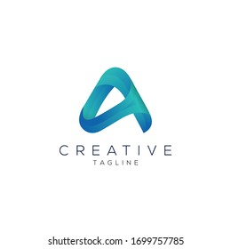 Creative and modern minimalist A letter logo design template for use any kinds of business