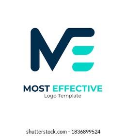 Creative Modern Monogram Logo Letter M E. Vector Simple Luxury Initial Design