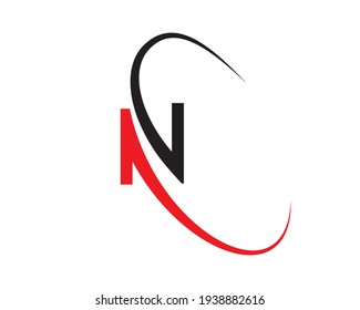 Creative and modern N letter logo design. N. N Logo Design, Initial N Logo template