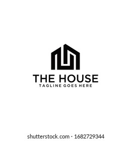 Creative modern style house sign logo design template