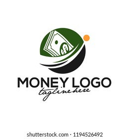 Creative Money Concept Logo Design Template