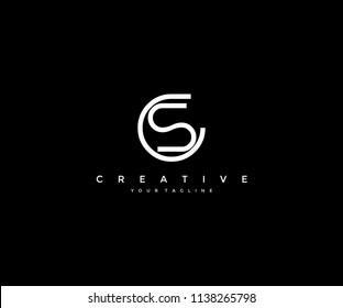 Creative Monogram CS Letter Logo