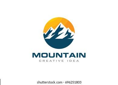 Creative Mountain Concept Logo Design Template