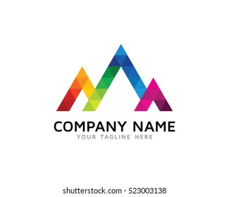 Creative Mountain Logo Design Template