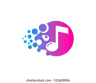 Creative Music Logo Design Template Element