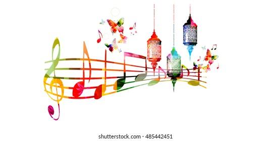 Islamic Music Stock Illustrations, Images & Vectors