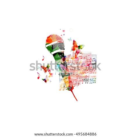 Creative Music Style Template Vector Illustration Stock Vector