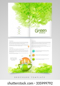 Creative Nature conceptualize, Professional Brochure, Flyer, Banner or Template design with front and back presentation.