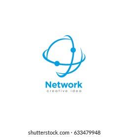 Creative Network Concept Logo Design Template