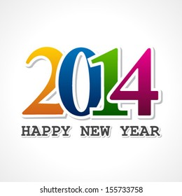 Creative new year,2014 concept stock vector
