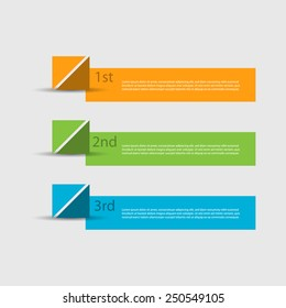 Creative numbered banners. Can be used for advertising / tutorial / infographics.