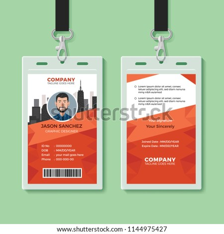 creative office identity card template stock vector royalty free