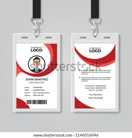 Creative Office Identity Card Template Stock Vector Royalty Free - Office card template