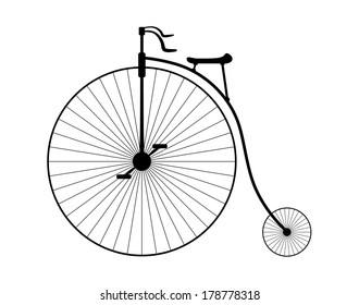 Creative old fashioned bicycle vector design.