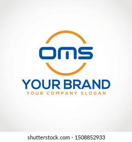 Creative OMS initial based letter logo