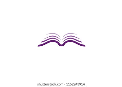 Creative Open Brown Purple Logo Symbol Vector Design Illustration