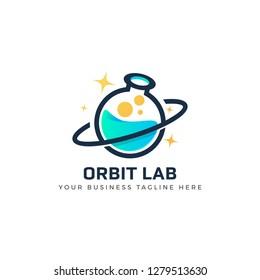Creative  Orbit Labor Lab abstract logo design template Vector illustration