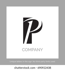 Creative P letter vector sign design. Character symbols. Icon design for website