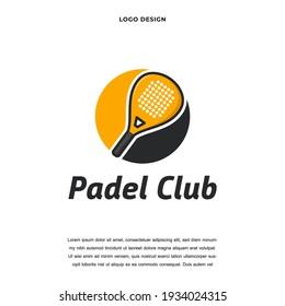 Creative padel sport icon logo design color editable vector illustration
