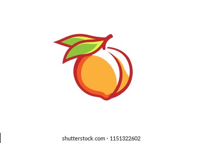 Creative Peach Orange Logo Symbol Design Illustration