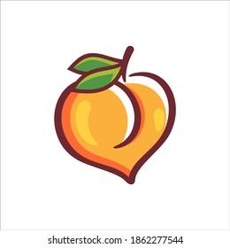 Creative Peach Orange Logo Symbol Design Illustration