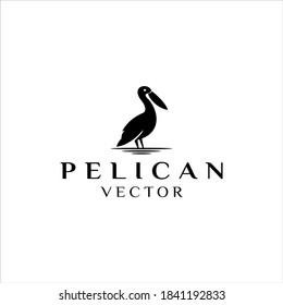 creative Pelican Bird logo design vector