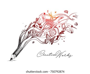 Creative Pencil Design Images Stock Photos Vectors