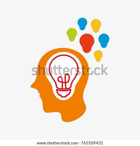 Creative People With Bright Idea Logo Icon
