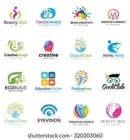 Creative People and Education Logo Set
