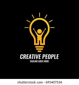 Creative people logo design template.Future idea logo design concept. Vector illustration
