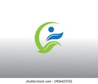 creative  people logo leave logo design run logo nature logo design