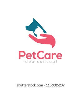 Creative Pet Care Concept Logo Design Template