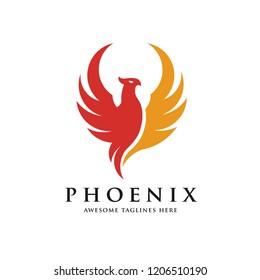 creative phoenix bird logo concept