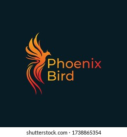 Creative Phoenix Bird Logo Design Illustration. Download a Free Preview or High Quality Adobe Illustrator EPS,  High Resolution.