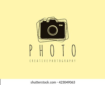 Creative Photo Camera Logo Template