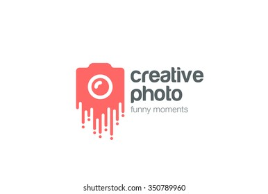 Creative Photo Logo design vector template. Photographer camera Logotype concept icon.