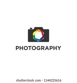 Creative Photography Concept Logo Design Template