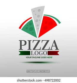 Creative Pizza Logo. Vector Illustration Eps. 10